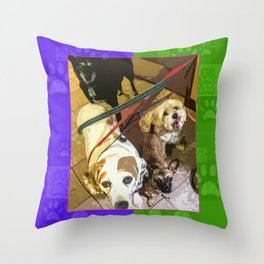 Roz, Buster, Peppy and Jamie Throw Pillow