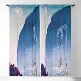 White Bear Taking Her Daughter To The Palace - Digital Remastered Edition Blackout Curtain