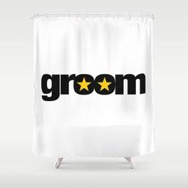 Groom Wedding Artwork - Entourage Shower Curtain