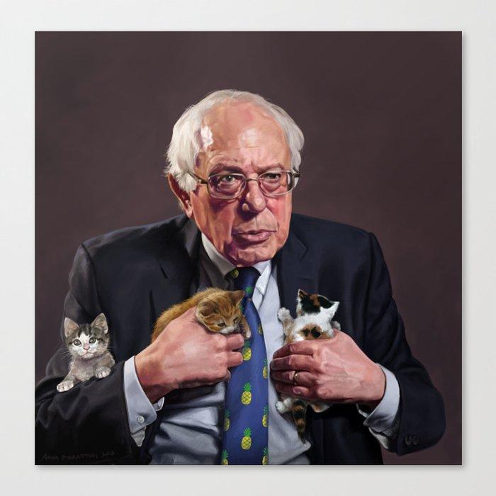 Bernie and Kittens Leinwanddruck