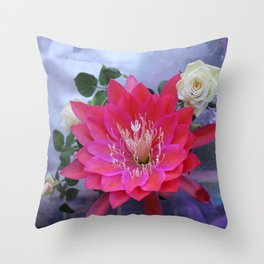Roses Are White, Cactus is Rose... Throw Pillow