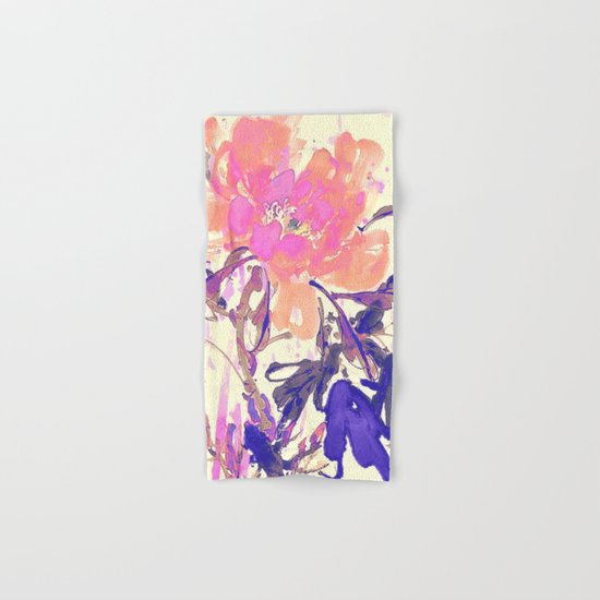watercolor flower Hand & Bath Towel