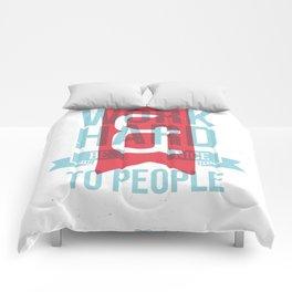 Work Hard & Be Nice - Alternative Comforters