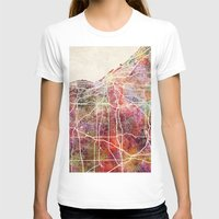 cleveland T-shirts featuring Cleveland by MapMapMaps.Watercolors