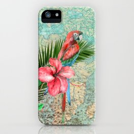 Tropical Map iPhone Case