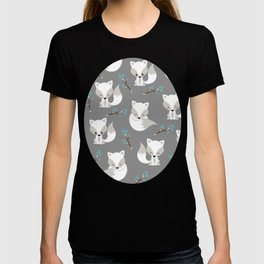 ARCTIC FOXES ON GREY T-shirt
