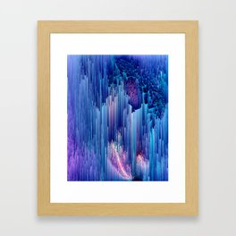 Beglitched Waterfall - Abstract Pixel Art Framed Art Print