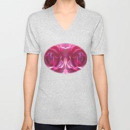 Pink Rose Bud Unisex V-Neck