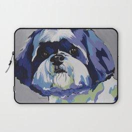 Shih Tzu Pop Art Pet Portrait Laptop Sleeve