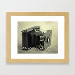 Even Memories Fade Away Framed Art Print