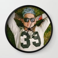 niall horan Wall Clocks featuring Niall Horan Punk Edit by Vinny's Edits
