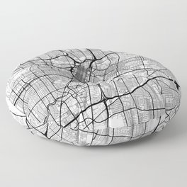 Houston Map White Floor Pillow
