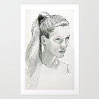 kate moss Art Prints featuring Kate Moss by Zander Stefani