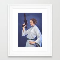 leia Framed Art Prints featuring Leia by Sara Meseguer