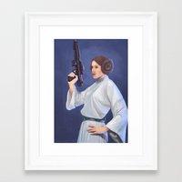 princess leia Framed Art Prints featuring Leia by Sara Meseguer