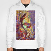 miami Hoodies featuring miami by donphil