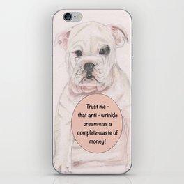 Bulldog humour iPhone Skin