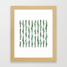 Green Cactus Framed Art Print