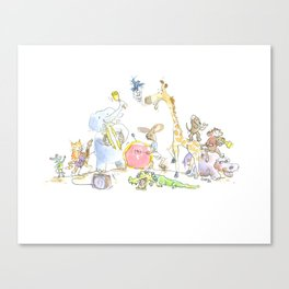 Sgt. Puppy's Lovely Hippo Cat-Club Band Canvas Print