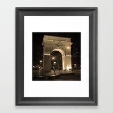 Washington Square Park Framed Art Print