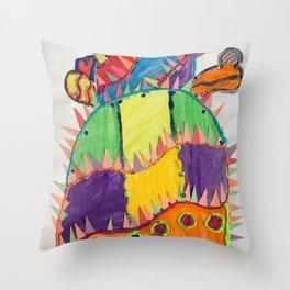 CRAZY CACTUS Throw Pillow