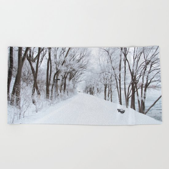 Winter Memories Beach Towel