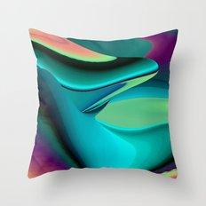 Futuristic, Abstract Rainbowart 6 Throw Pillow
