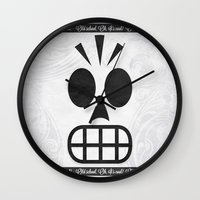 grim fandango Wall Clocks featuring GRIM FANDANGO - OLD SCHOOL, OH, IT'S COOL! by Be Yourself