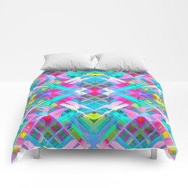 Colorful digital art splashing G481 Comforters