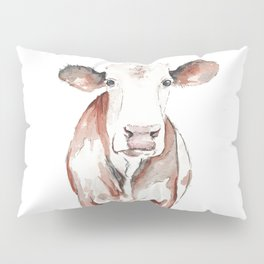 Cow Watercolor Pillow Sham