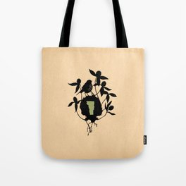Vermont - State Papercut Print Tote Bag
