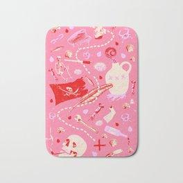 AHOY PATTERN (pink) Bath Mat