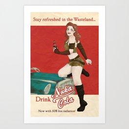 Nuka Cola Ad Art Print