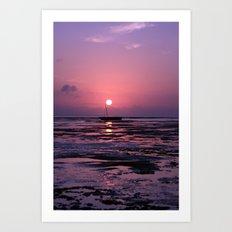 Zanzibar Island Sunrise Art Print