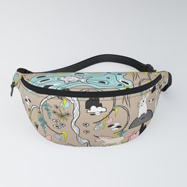 Magical Garden (Beige) Fanny Pack