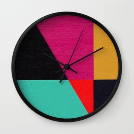 Red Triangle Wall Clock
