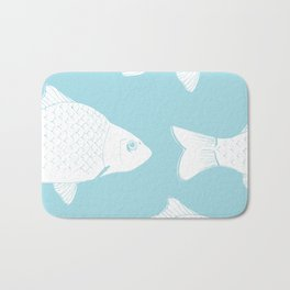 Carps in Light Blue Bath Mat