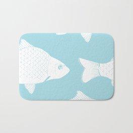 Carps in Light Blue Bath Mat