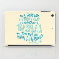 nietzsche iPad Cases featuring Corrupt A Youth by Josh LaFayette