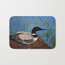 Loon on the Nest  Bath Mat