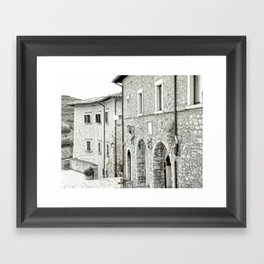 Italian street view 02 Framed Art Print