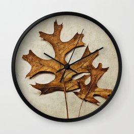 two oak leaves Wall Clock
