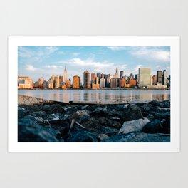 Sunrise Skyline Art Print