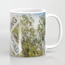 Railroad sign Coffee Mug