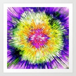 Textured Retro Tie Dye Art Print