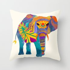 Whimsical Elephant Throw Pillow