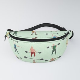 Green weightlifters Fanny Pack