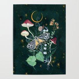 Mushroom night moth Poster