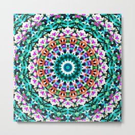 Tribal Mandala G405 Metal Print