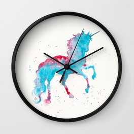 Bring On The Unicorns Wall Clock